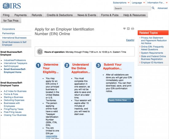 How do you find your Employer Identification Number?