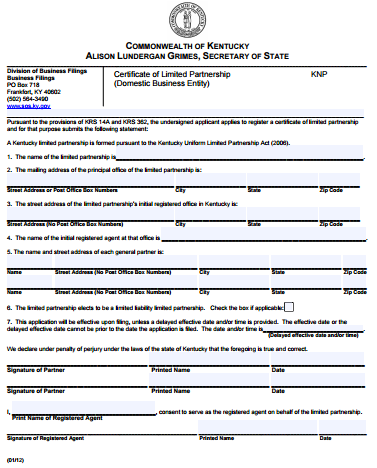 Kentucky-Certificate-of-Limited-Partnership