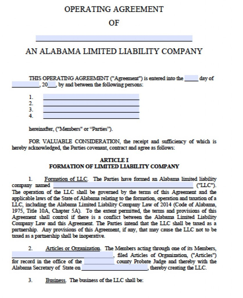 Limited Liability Company Agreement Template Koni Polycode Co